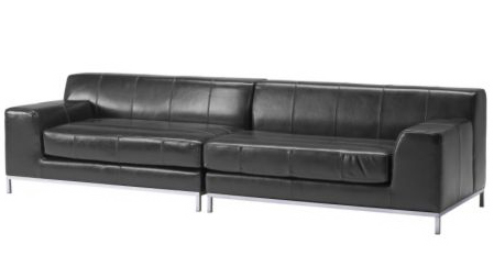 Thatu0027s The Black Leather Kramfors Sofa. $1398 (or About 3 Times What We  Paid For Our Sofa, Which Is Maybe Why We Didnu0027t Get A Leather One In The  First Place ...